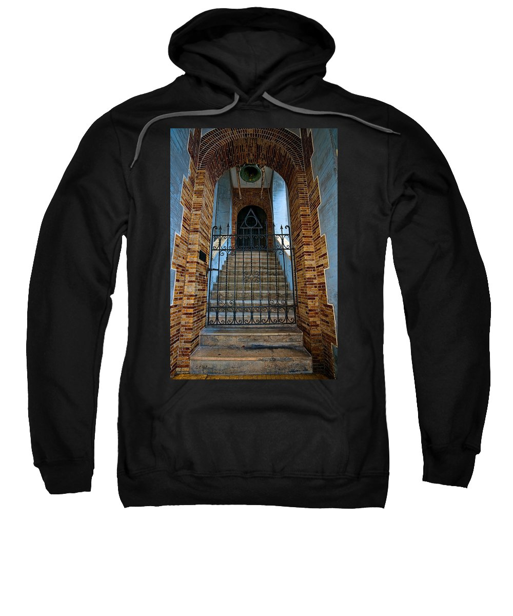 Architecture Sweatshirt featuring the photograph Stairs Beyond by Christopher Holmes