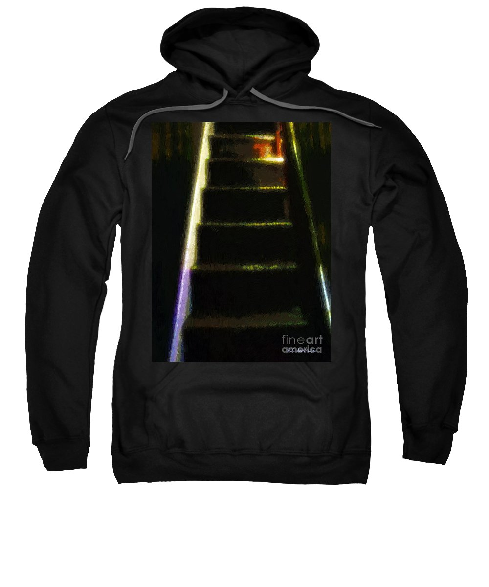 Stairs Sweatshirt featuring the painting Stairs To The Madwoman's Attic by RC DeWinter