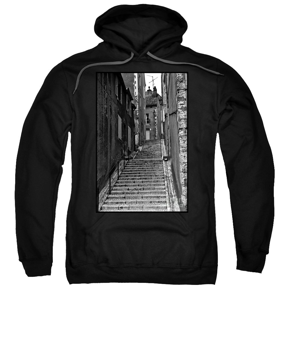 Stairs Sweatshirt featuring the photograph Stairway In France by Madeline Ellis