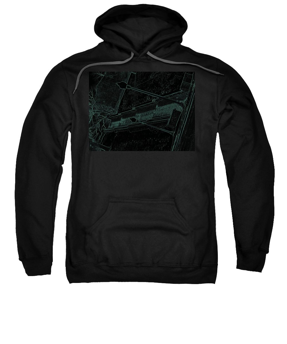 Black Sweatshirt featuring the photograph Stairway To-blue by Charleen Treasures