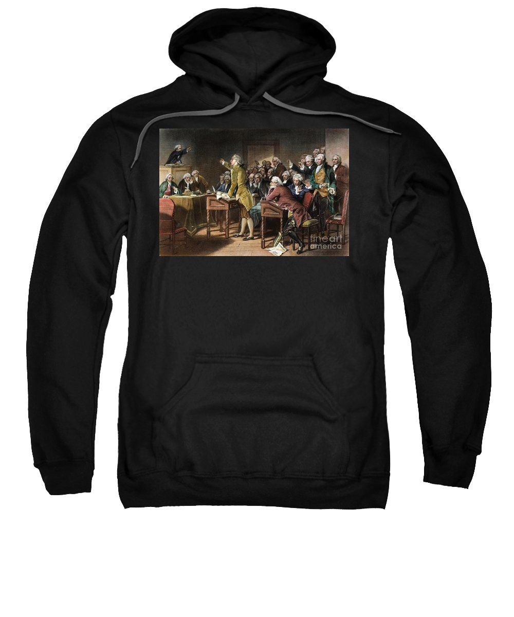 1765 Sweatshirt featuring the photograph Stamp Act: Patrick Henry by Granger