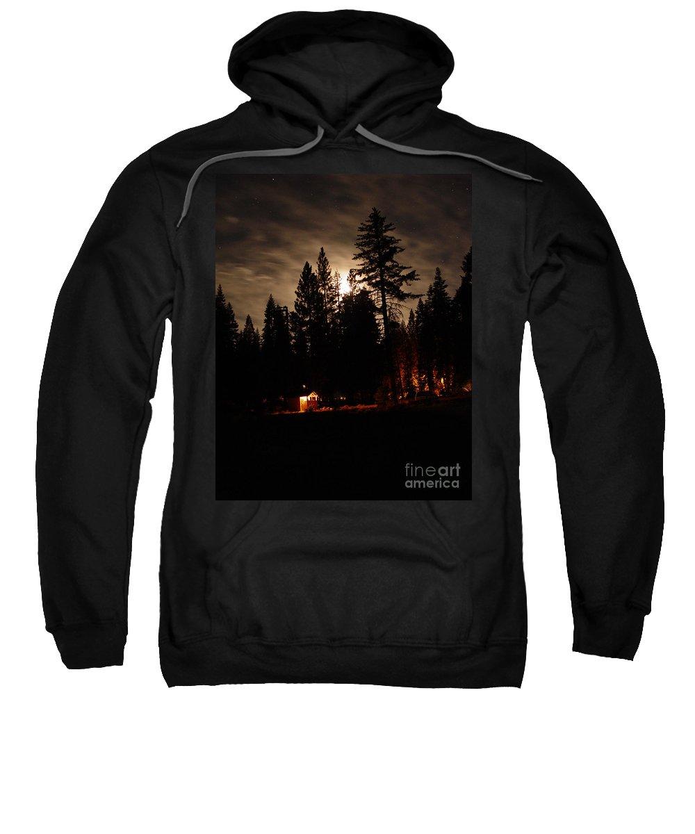 Moonlight Sweatshirt featuring the photograph Star Lit Camp by Peter Piatt