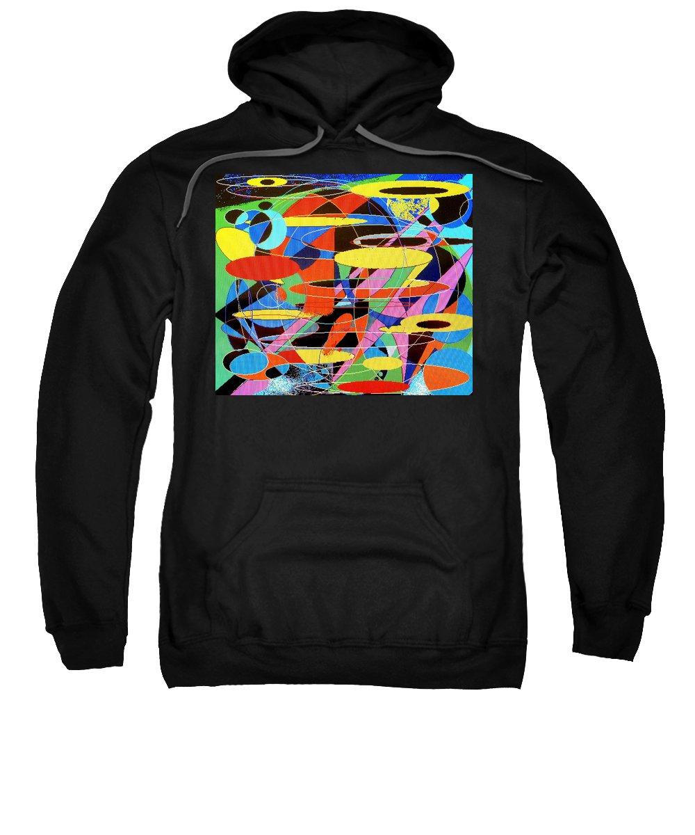 Abstract Sweatshirt featuring the digital art Star Wars by Ian MacDonald