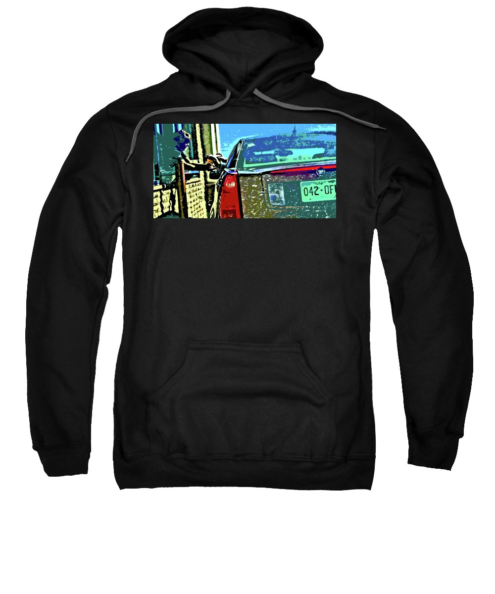 Abstract Sweatshirt featuring the digital art Starbucks 5 by Lenore Senior