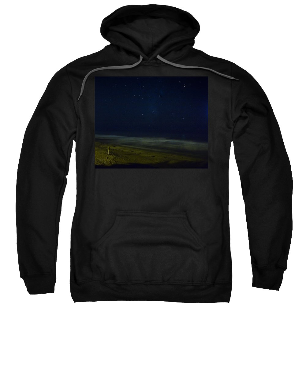 Nature Sweatshirt featuring the photograph Starry Night by John K Sampson