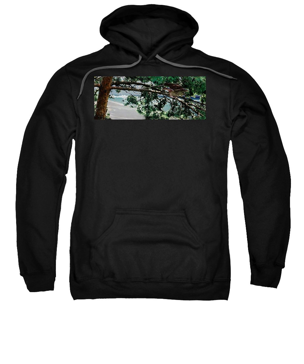 Landscape Sweatshirt featuring the painting Stealth by Steve Karol