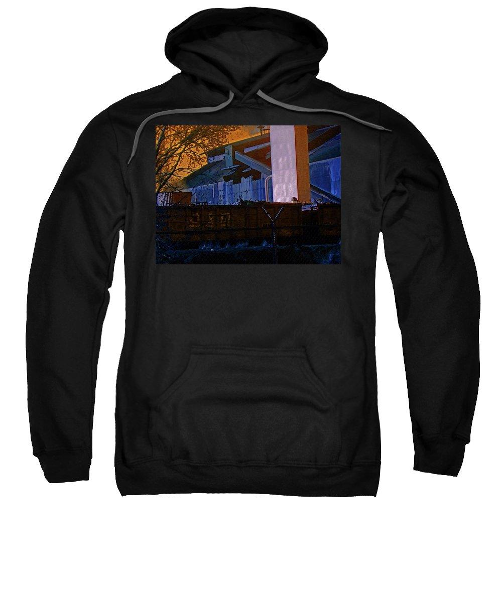 Abstract Sweatshirt featuring the digital art Steel City Cfi 4 by Lenore Senior