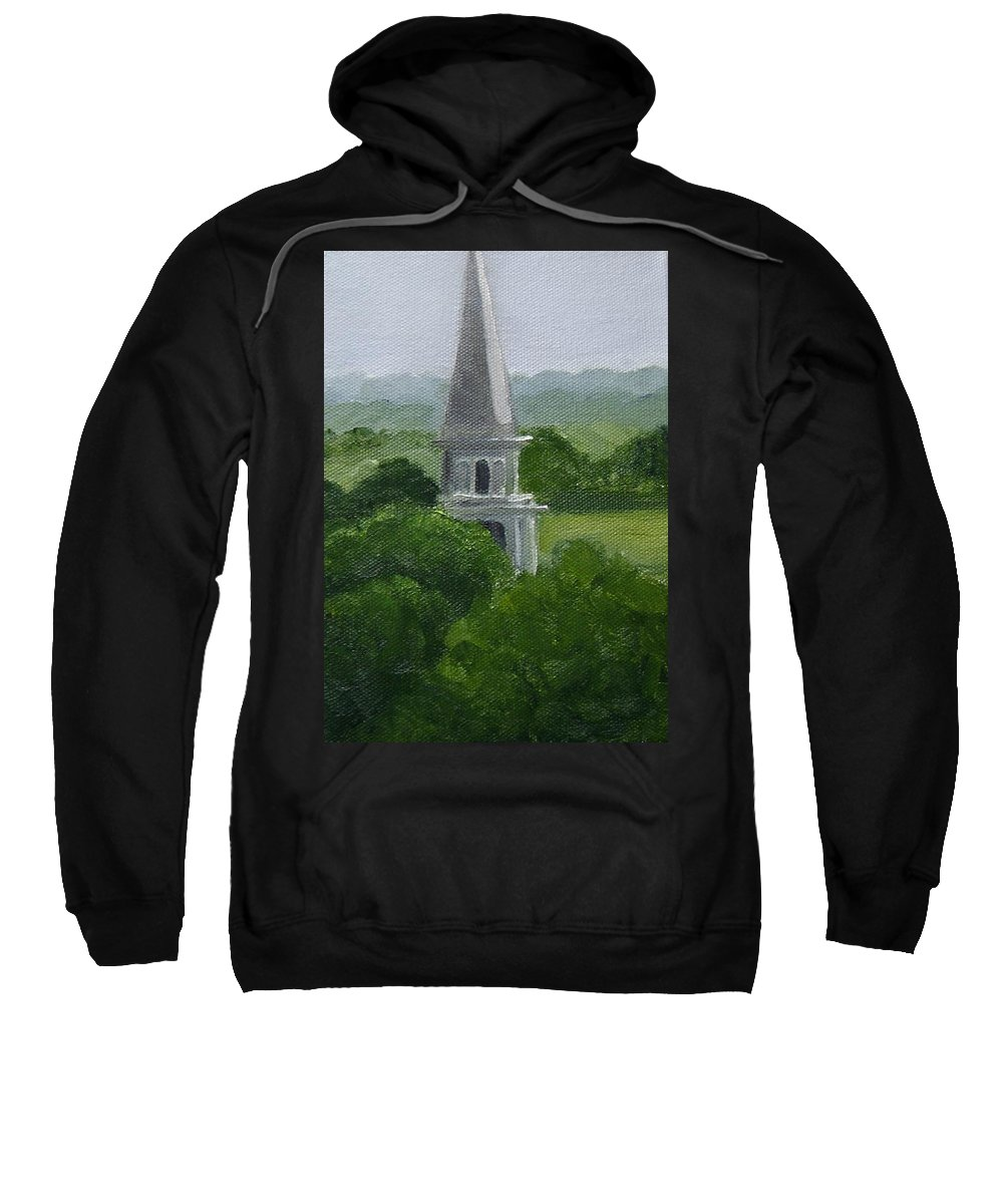 Steeple Sweatshirt featuring the painting Steeple by Toni Berry