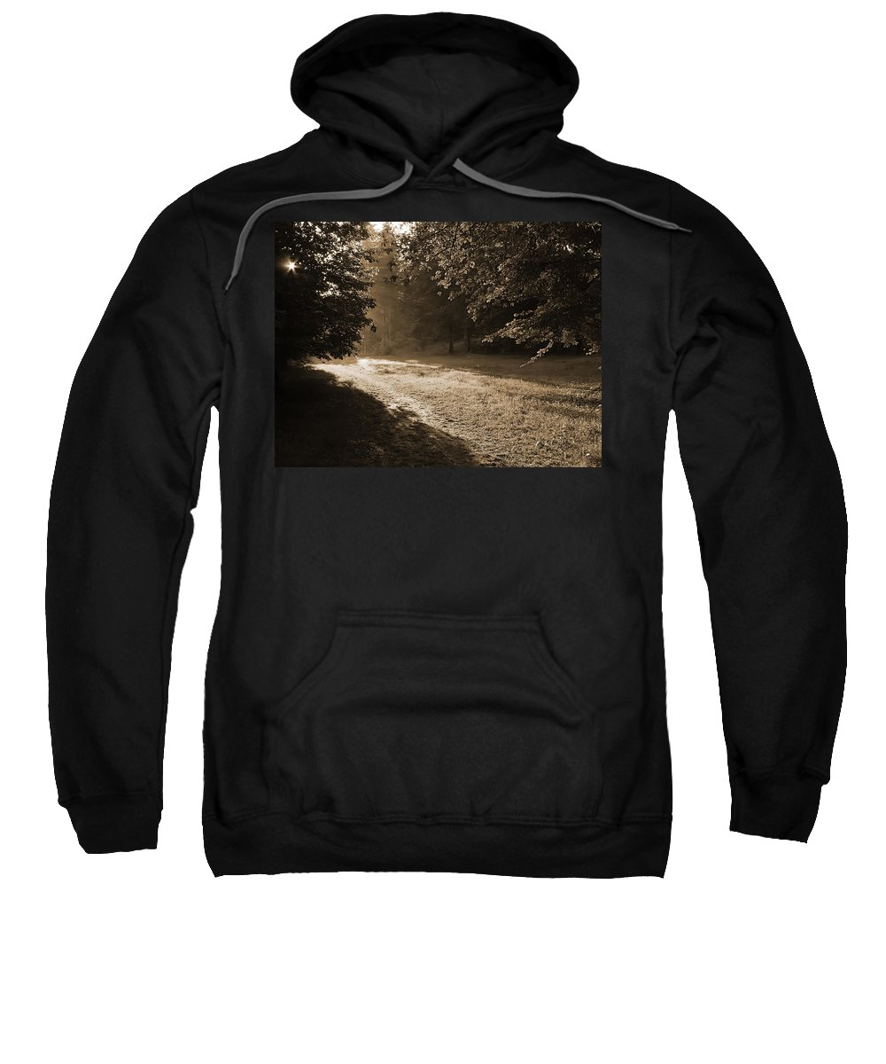Light Sweatshirt featuring the photograph Step Out Of The Shadow by Daniel Csoka