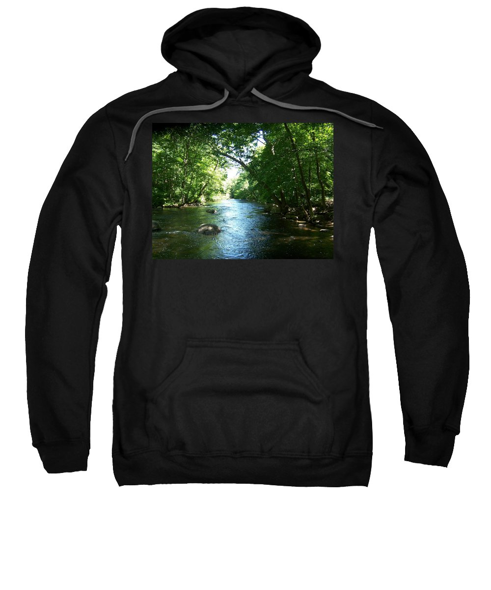 River Sweatshirt featuring the photograph Stephens State Park by Laurie Paci