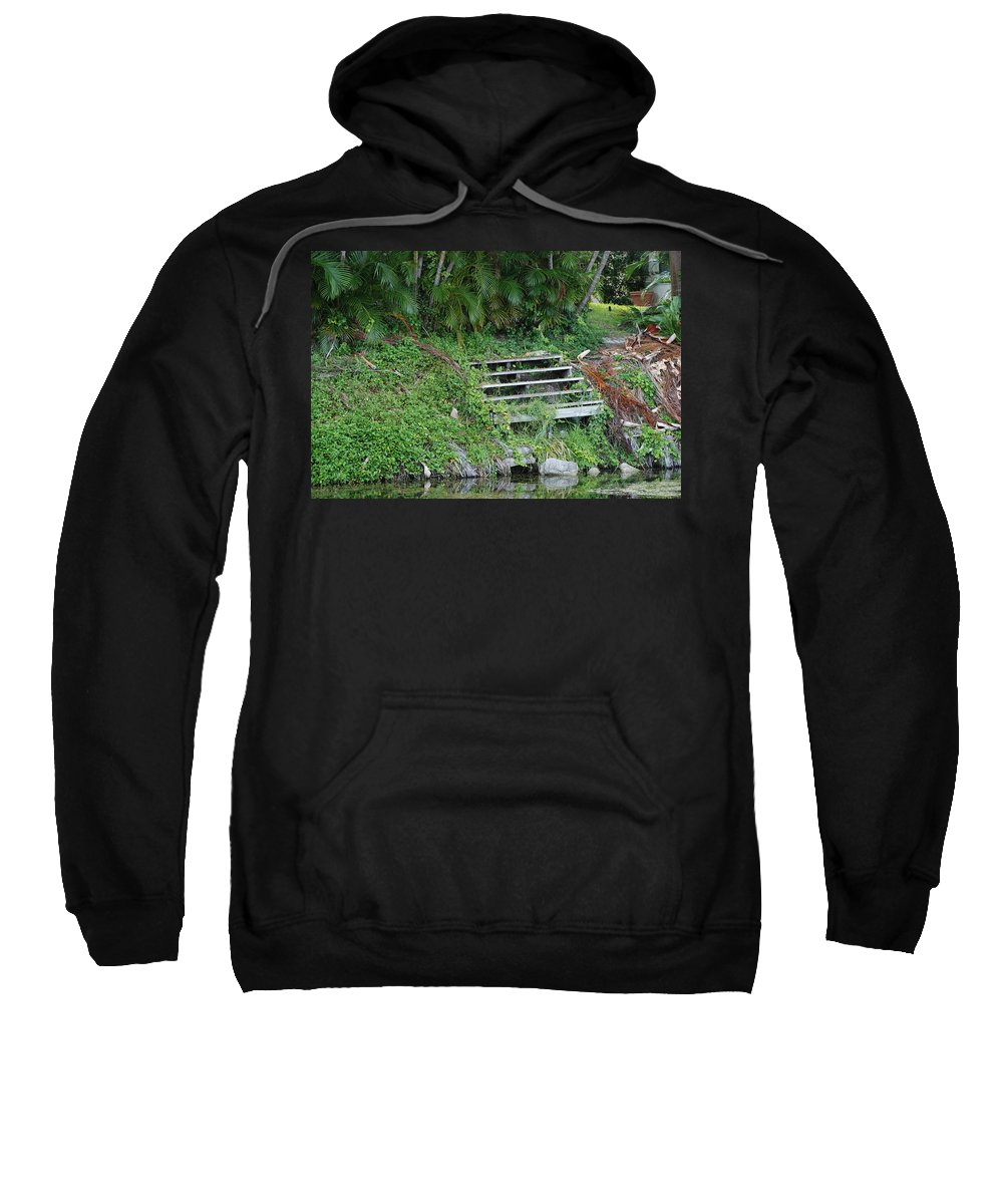 Grass Sweatshirt featuring the photograph Steps In The Grass by Rob Hans