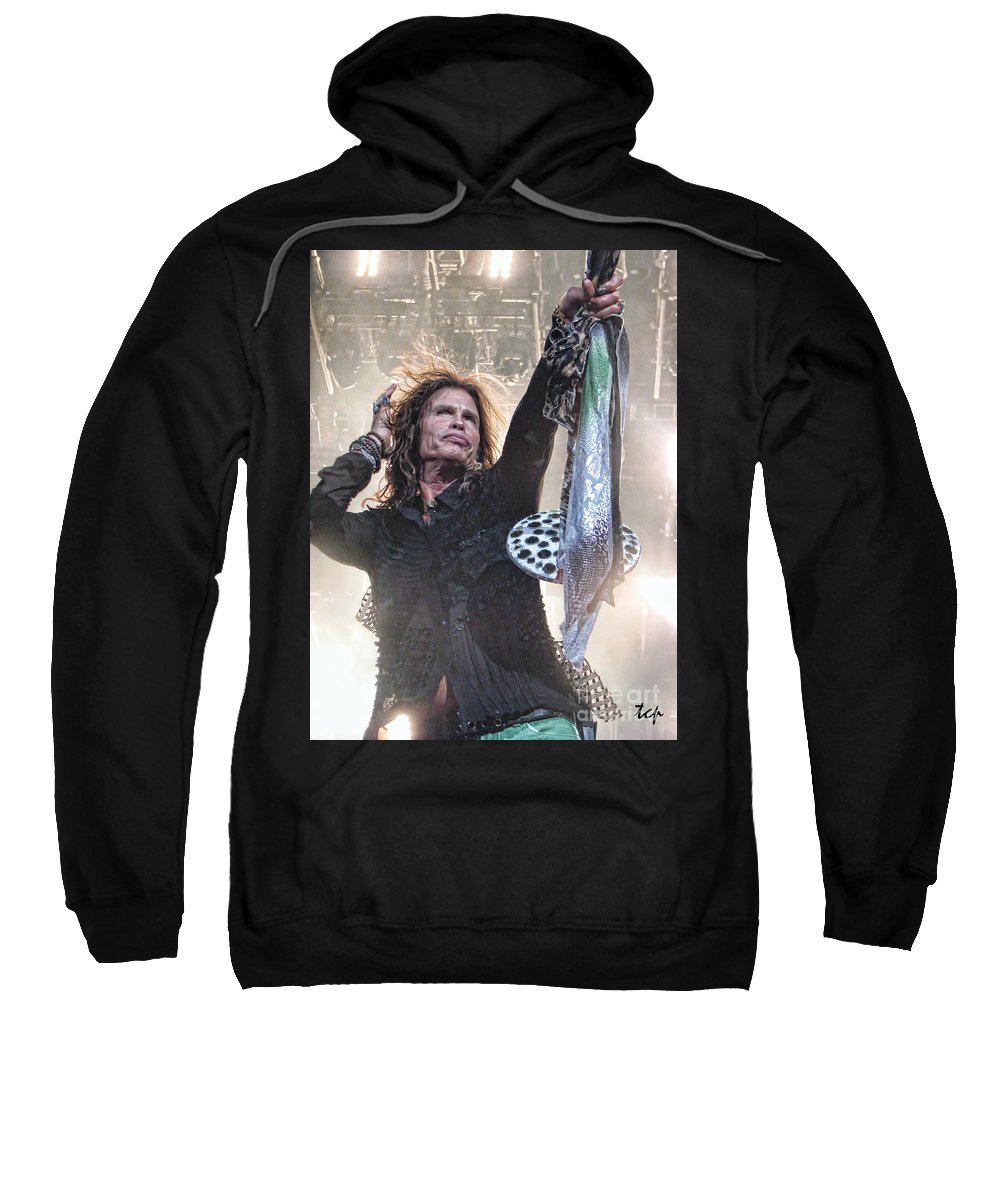Steven Tyler Sweatshirt featuring the photograph Steven Gives by Traci Cottingham