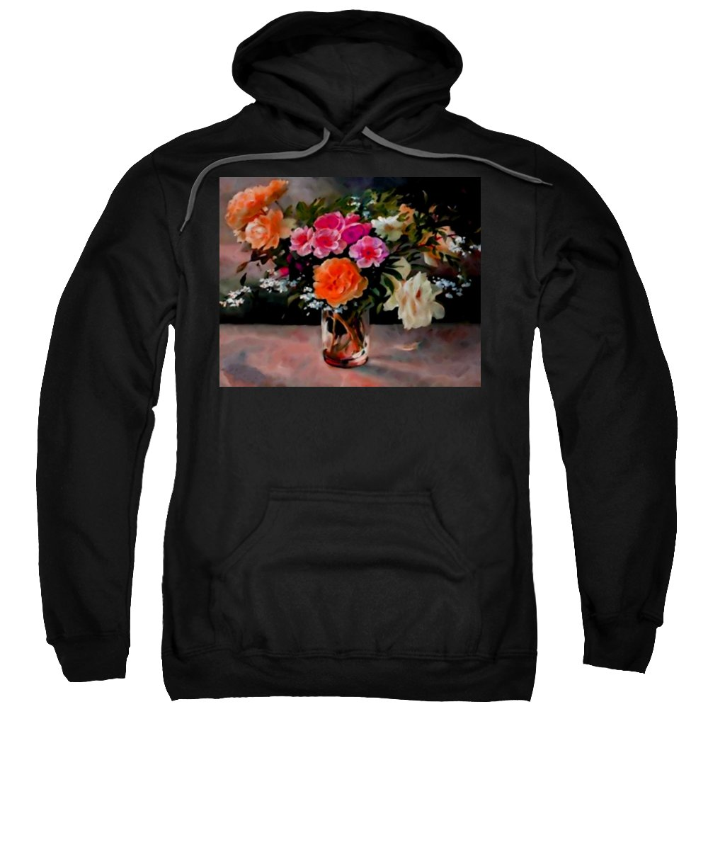 Announcement Sweatshirt featuring the photograph Still-life For Anne Catus 1 No.1 H B by Gert J Rheeders