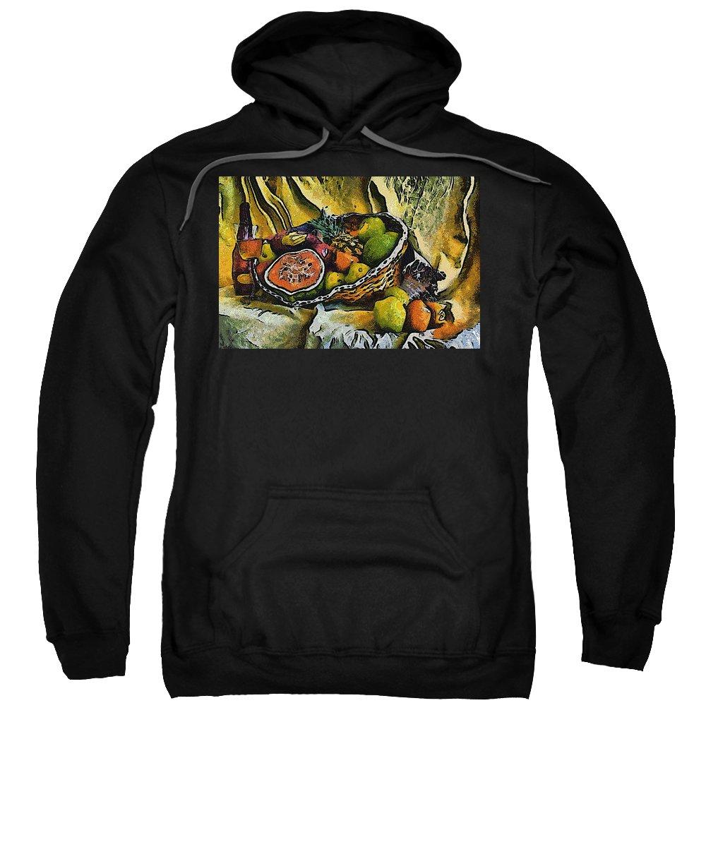 Still Life Sweatshirt featuring the digital art Still Life by Galeria Trompiz