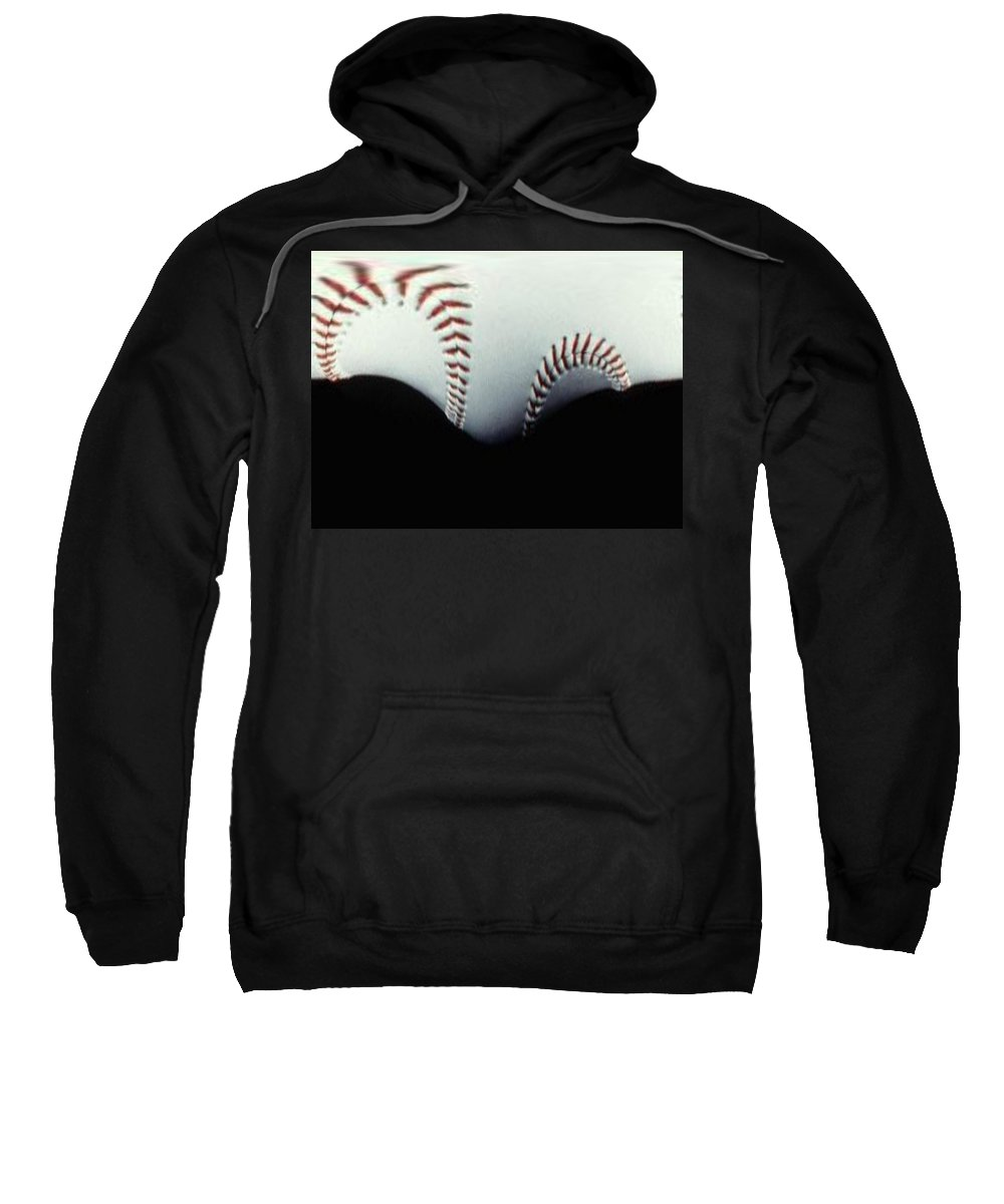 Baseball Sweatshirt featuring the photograph Stitches Of The Game by Tim Allen