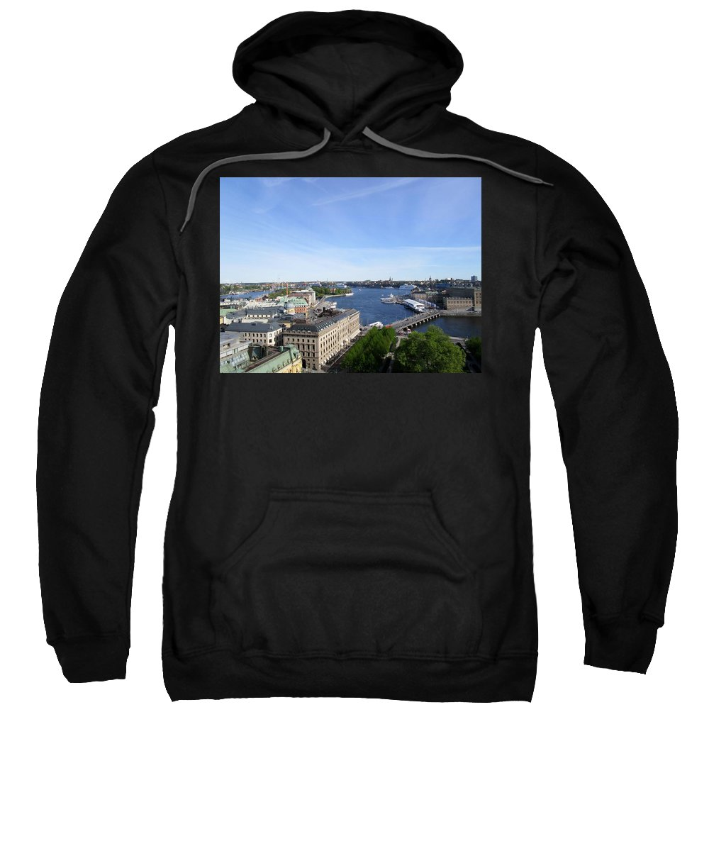 Skyview Tower Sweatshirt featuring the photograph Stockholm In My Heart by Rosita Larsson