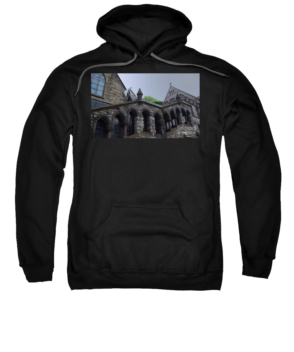 Church Sweatshirt featuring the photograph Stone Church by Lori Tambakis