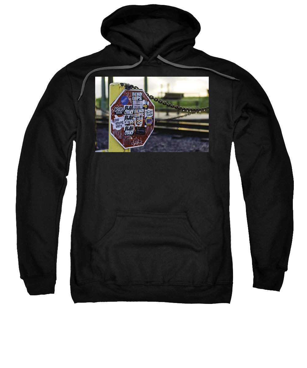 Stop Sign Sweatshirt featuring the photograph Stop Sign Ala New Orleans, Louisiana by Printed Pixels