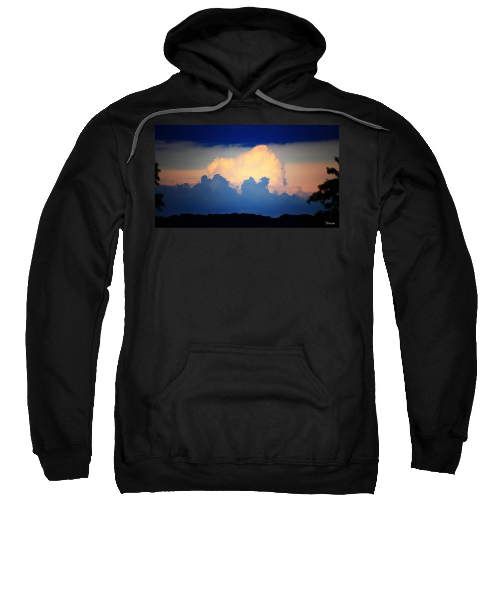West Sweatshirt featuring the digital art Storm Approaching Painting by Teresa Mucha
