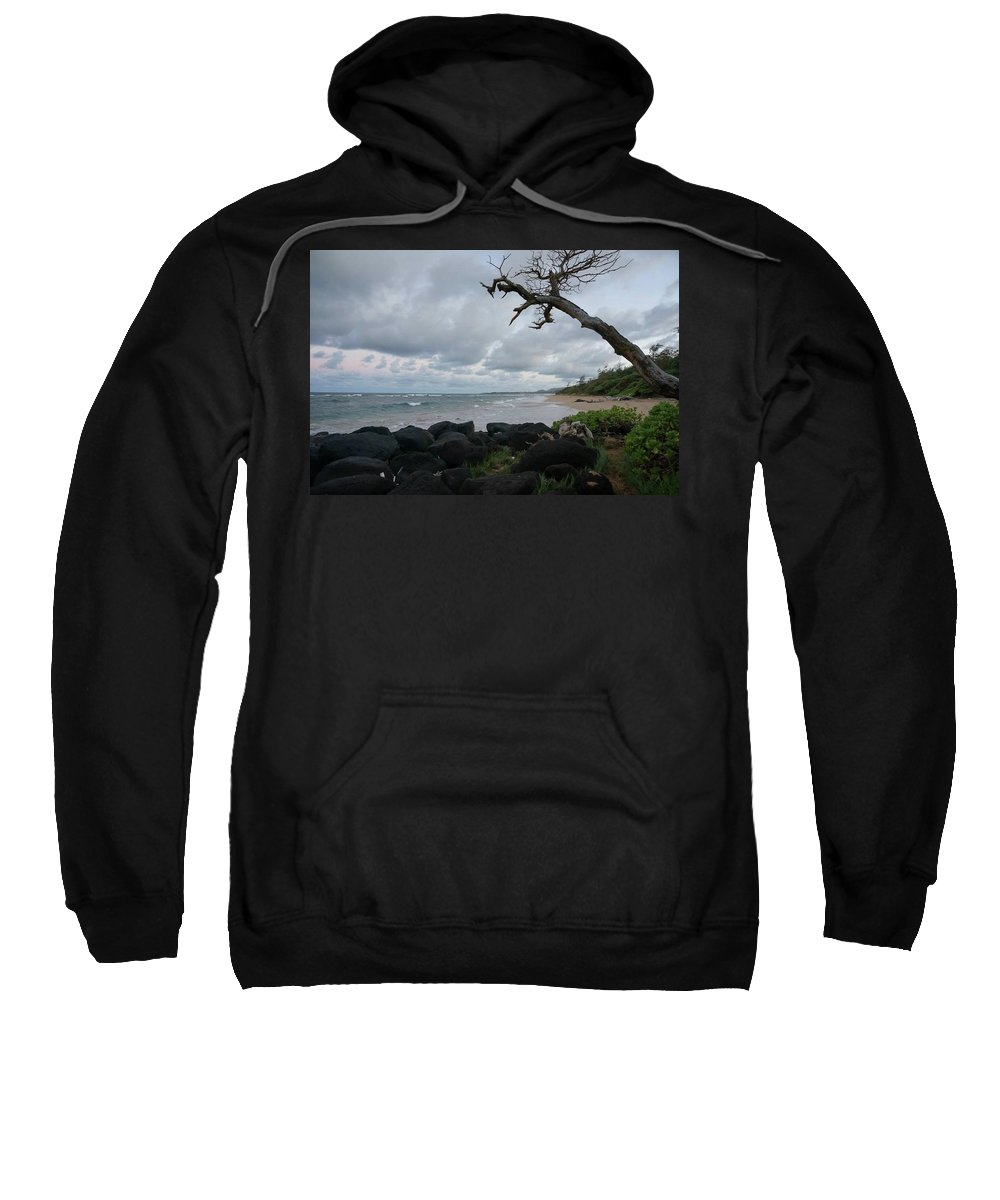 Coast Sweatshirt featuring the photograph Storm Brewing by Cara Packer