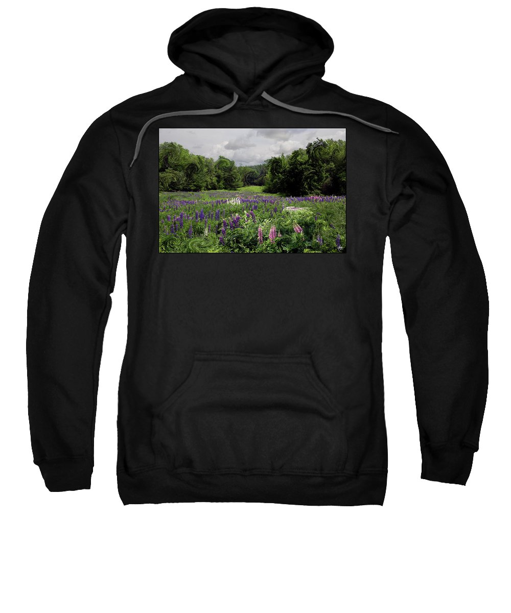 Lupine Sweatshirt featuring the photograph Storm In The Lupine by Wayne King