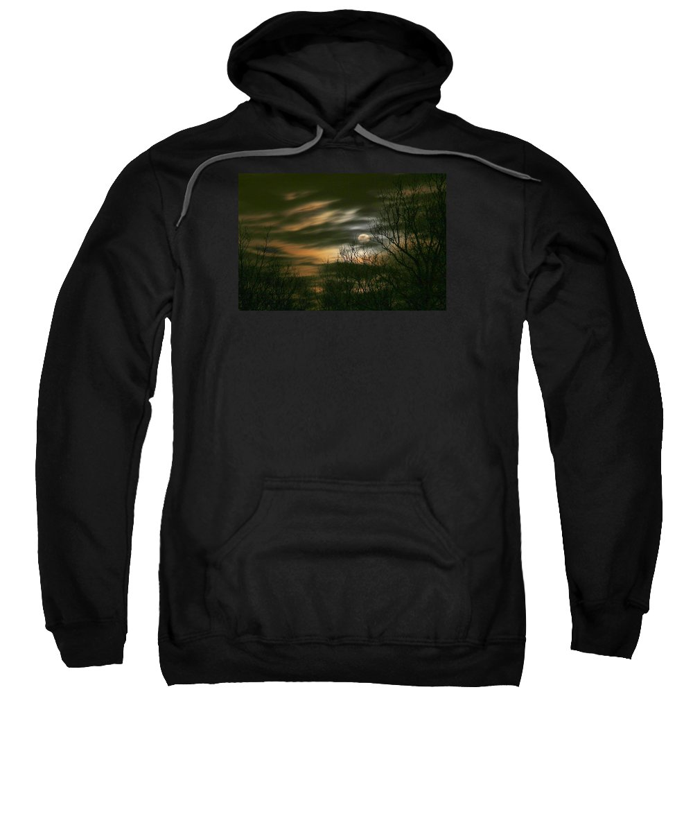 Night Sweatshirt featuring the photograph Storm Rollin' In by J R Seymour