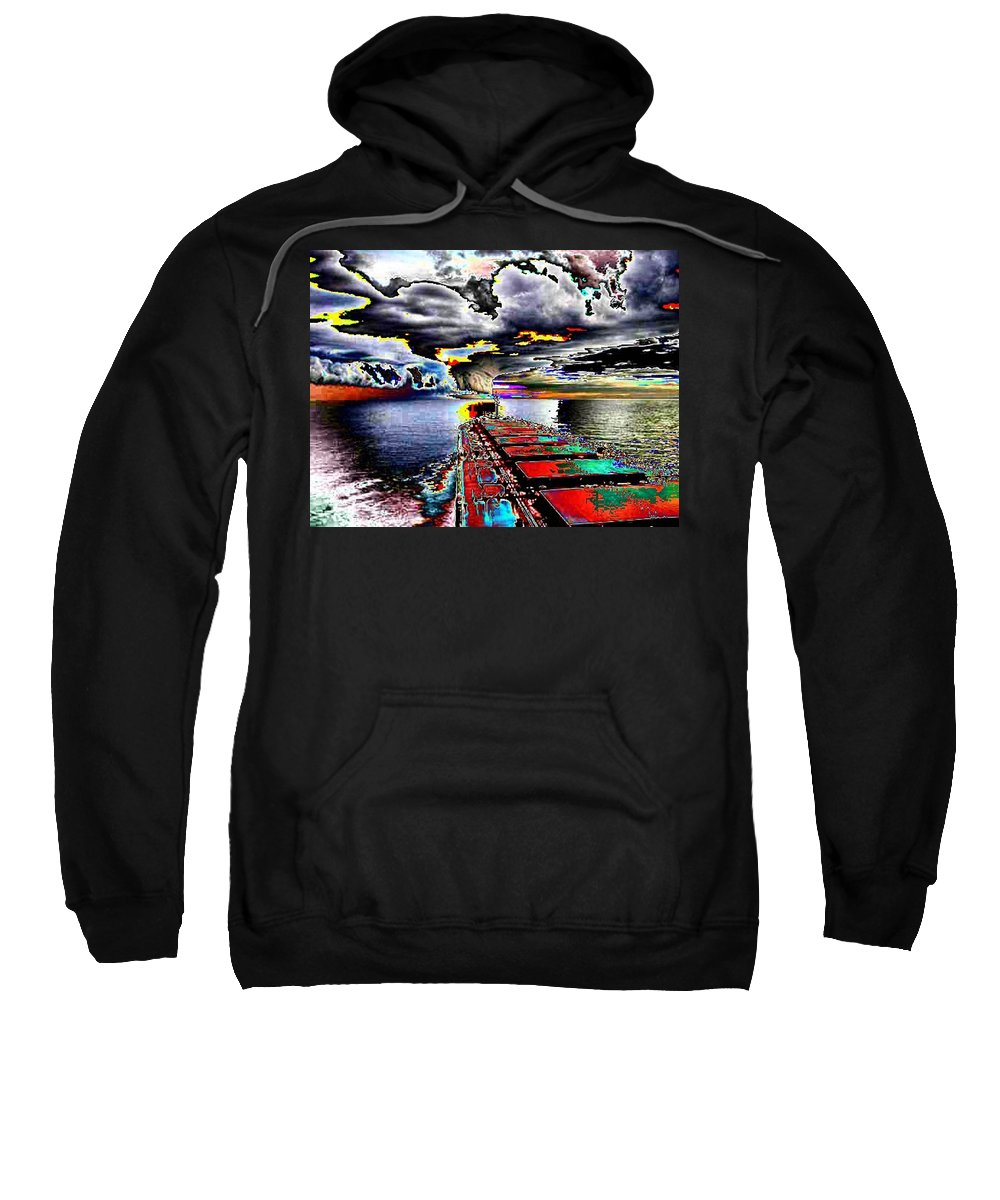 Storm Clouds Sweatshirt featuring the photograph Storm Warning by Tim Allen