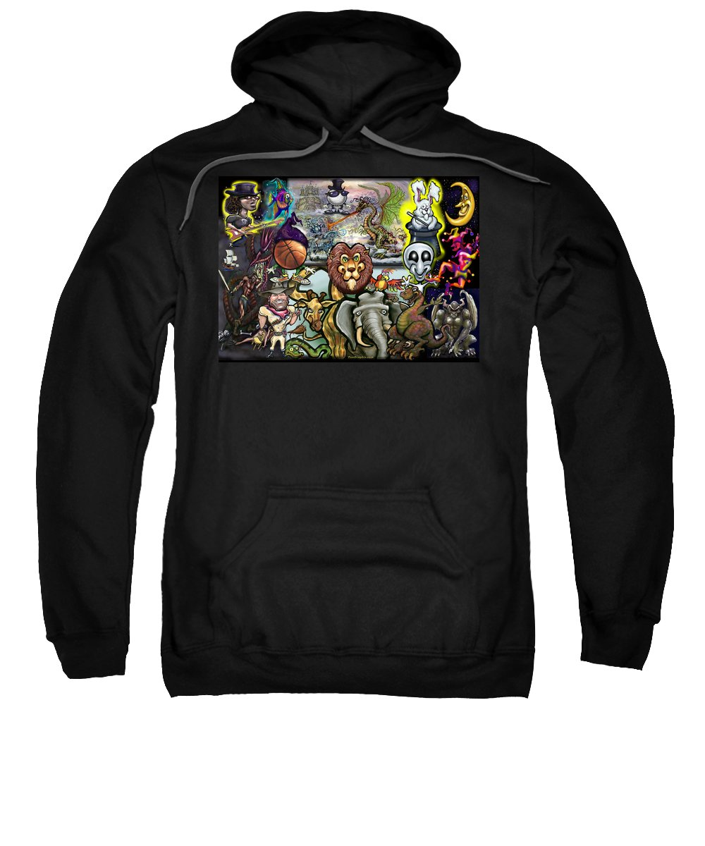 Story Sweatshirt featuring the painting Storytime by Kevin Middleton