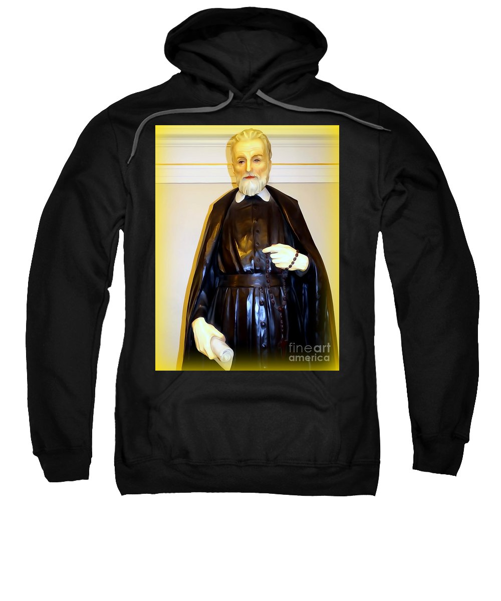 Digital Sweatshirt featuring the photograph St.philip Neri by Ed Weidman