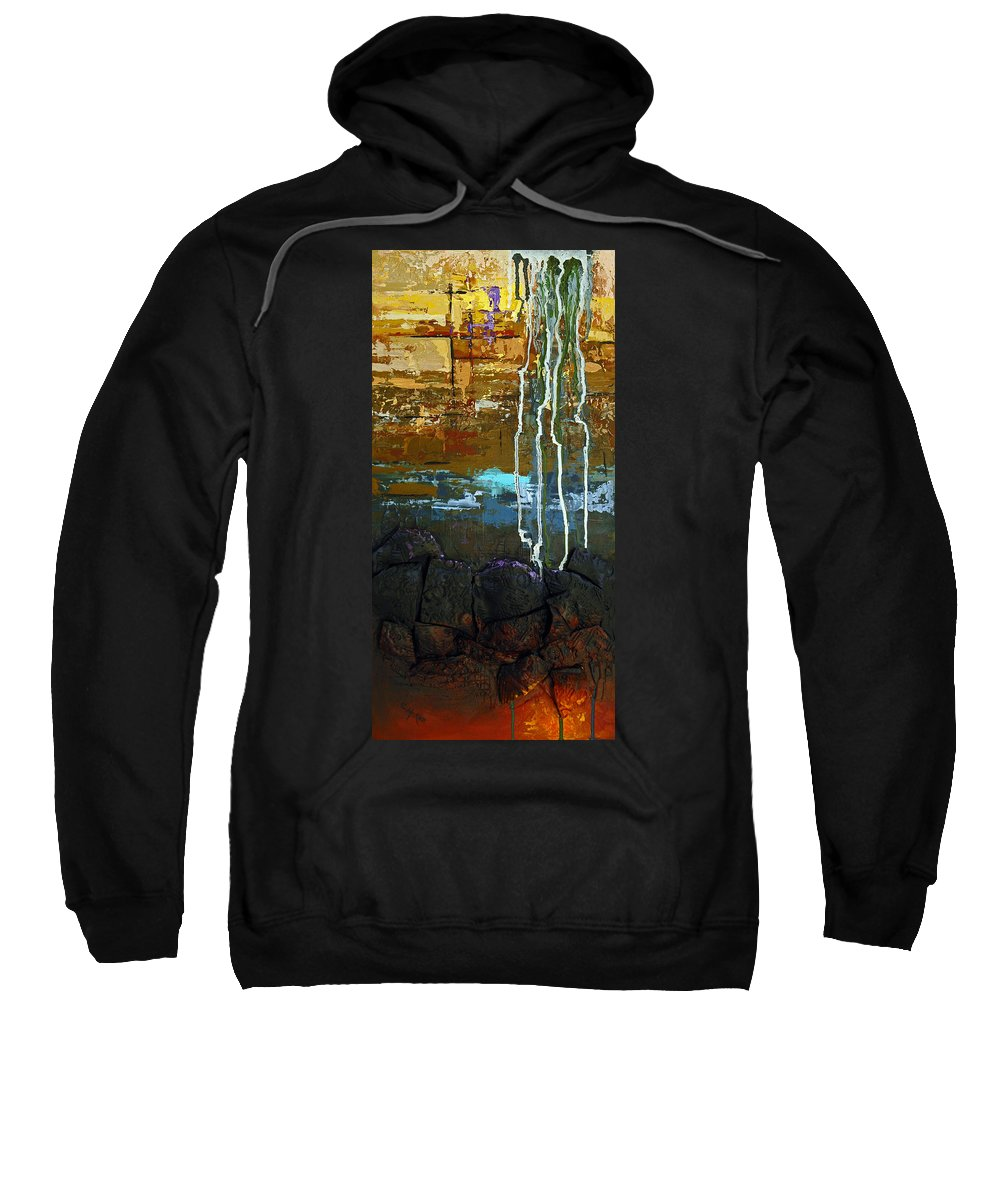 Acrylic Sweatshirt featuring the painting Strata by Suzanne McKee