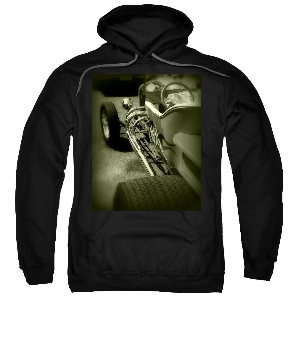 Car Sweatshirt featuring the photograph Street Chrome by Perry Webster