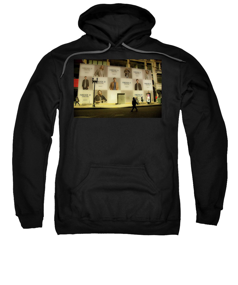 Forever 21 Sweatshirt featuring the photograph Street View by Bruce Coulter