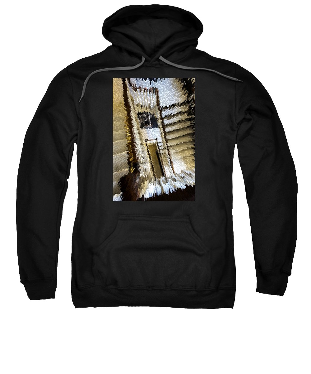 Stair Sweatshirt featuring the photograph Stretched Stairs by David Hare