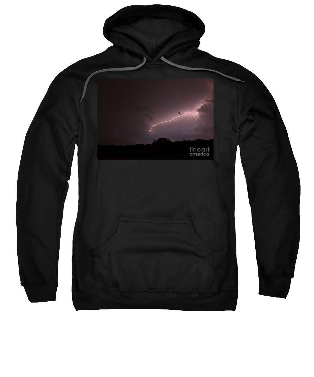 Lightning Sweatshirt featuring the photograph Strong Arm by Amanda Barcon