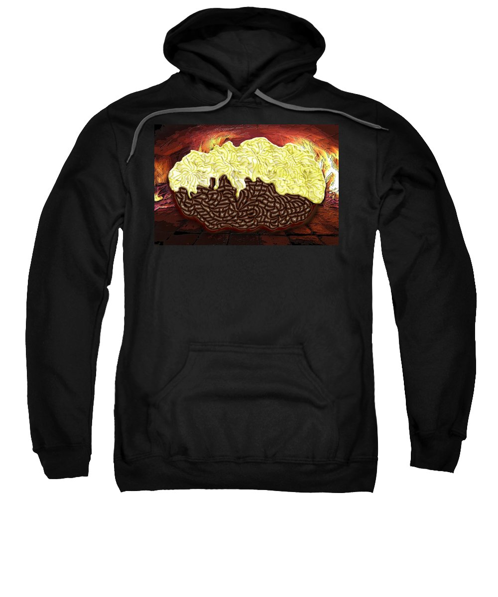 Potato Sweatshirt featuring the digital art Stuffed Potato by Mark Sellers