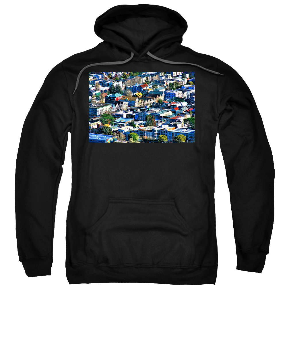 San Francisco Sweatshirt featuring the photograph Suburbia by Douglas Barnard