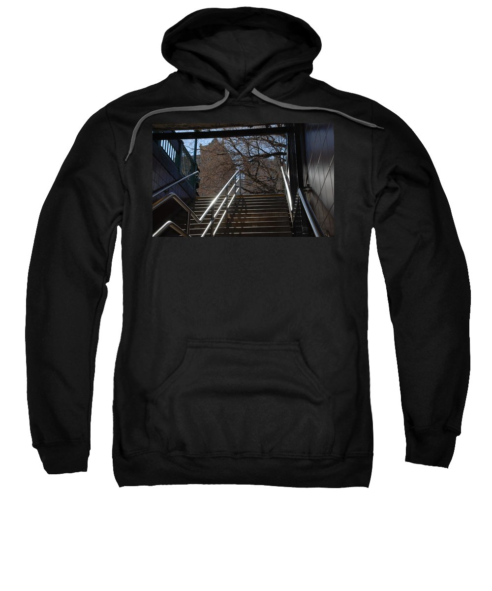 Street Scene Sweatshirt featuring the photograph Subway Stairs by Rob Hans