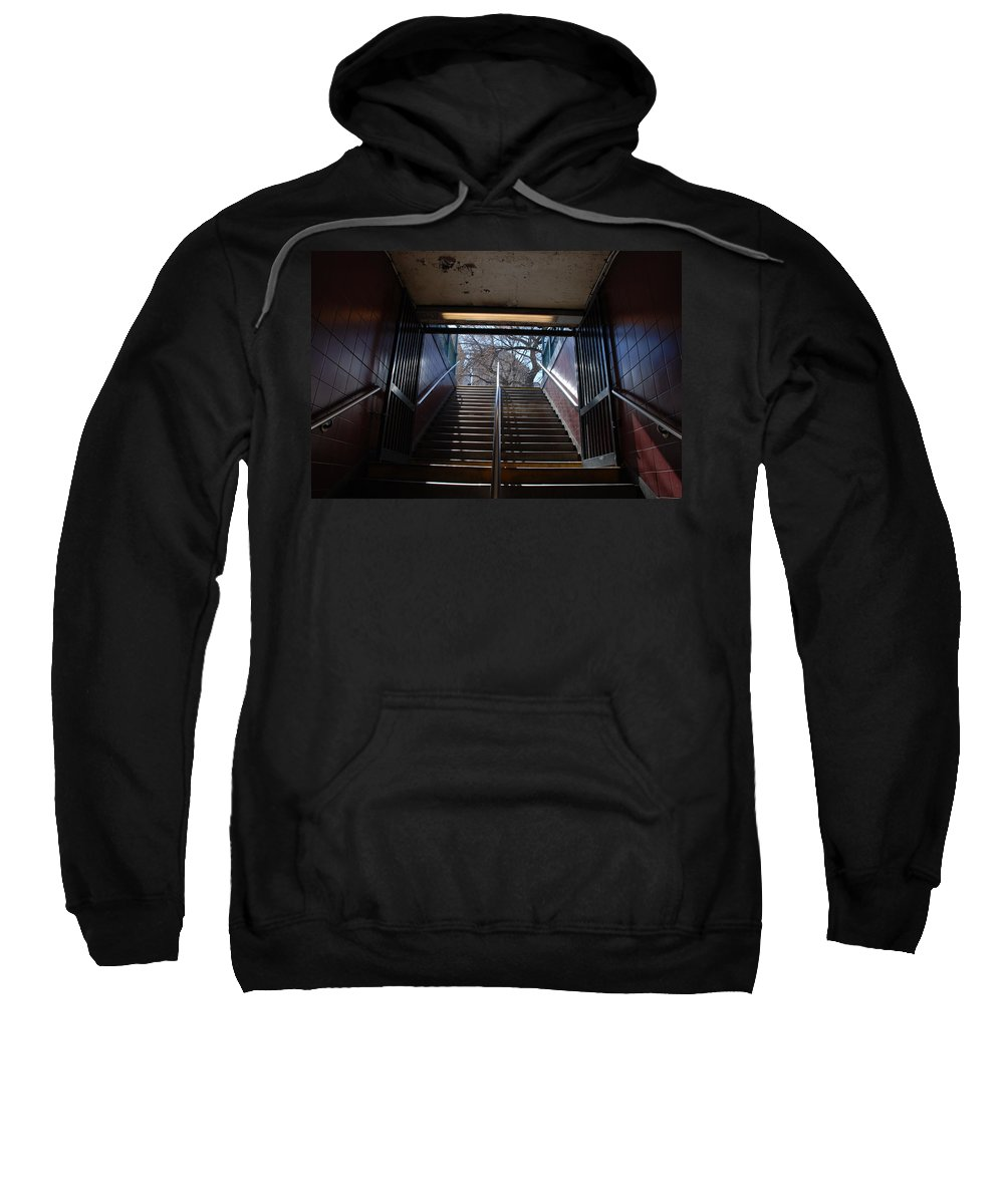 Pop Art Sweatshirt featuring the photograph Subway Stairs To Freedom by Rob Hans