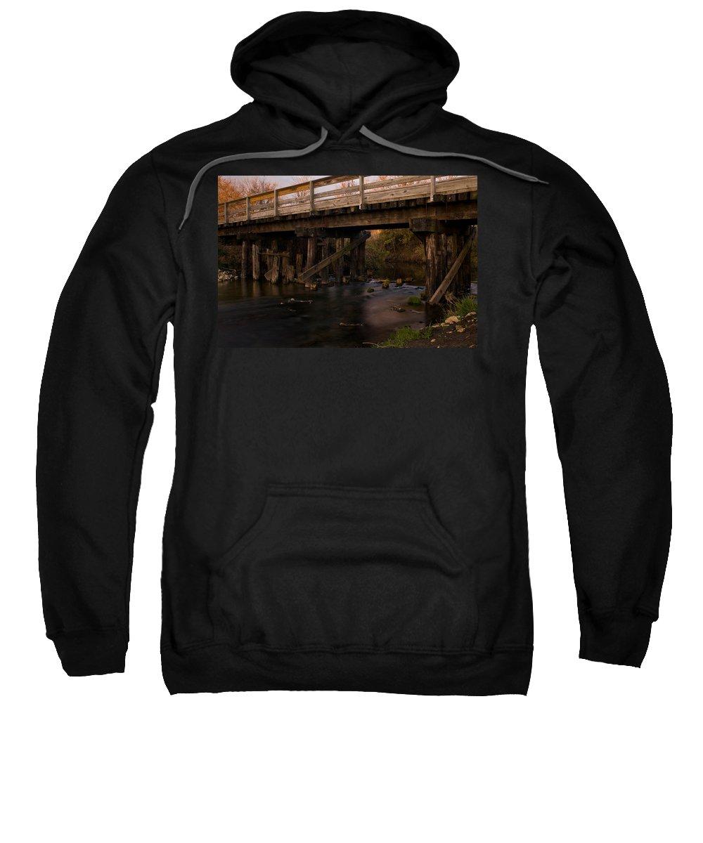 Bike Sweatshirt featuring the photograph Sugar River Trestle Wisconsin by Steve Gadomski