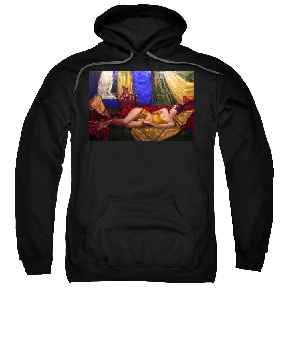 Art Sweatshirt featuring the painting Sultan spouse by Sergey Ignatenko