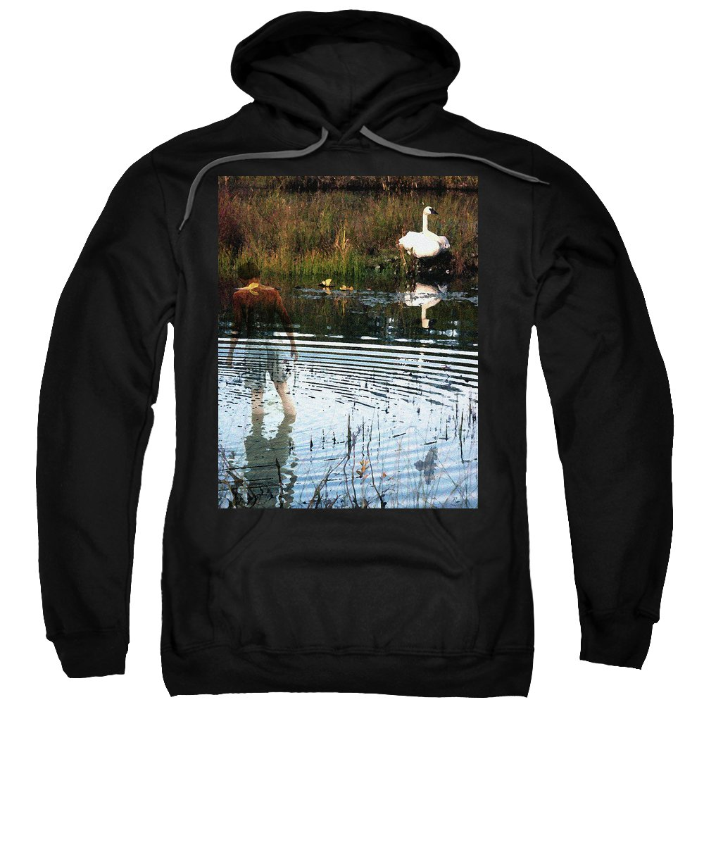 Swan Sweatshirt featuring the photograph Summer Dreams by Perri Kelly