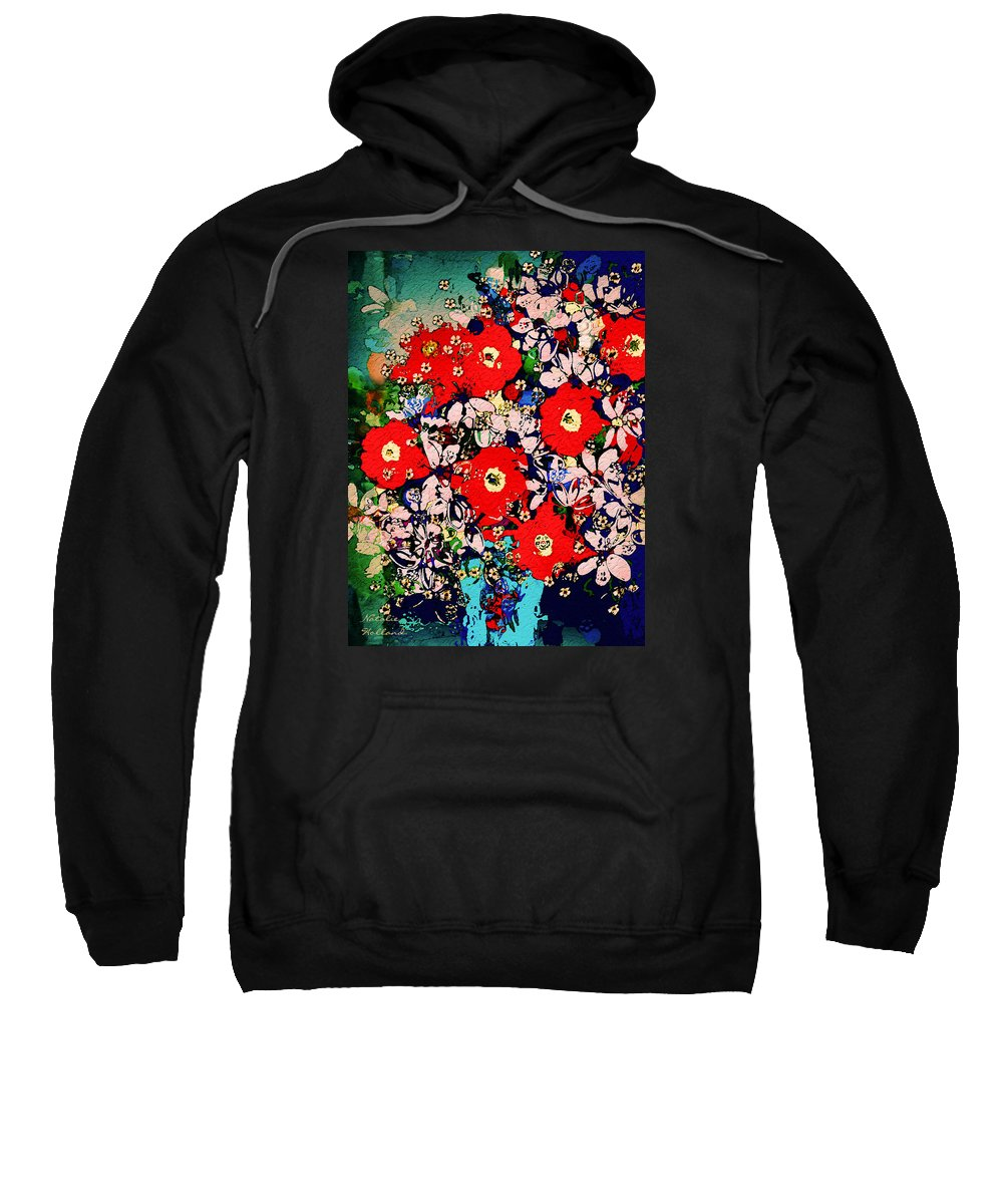 Flowers Sweatshirt featuring the mixed media Summer Glory by Natalie Holland