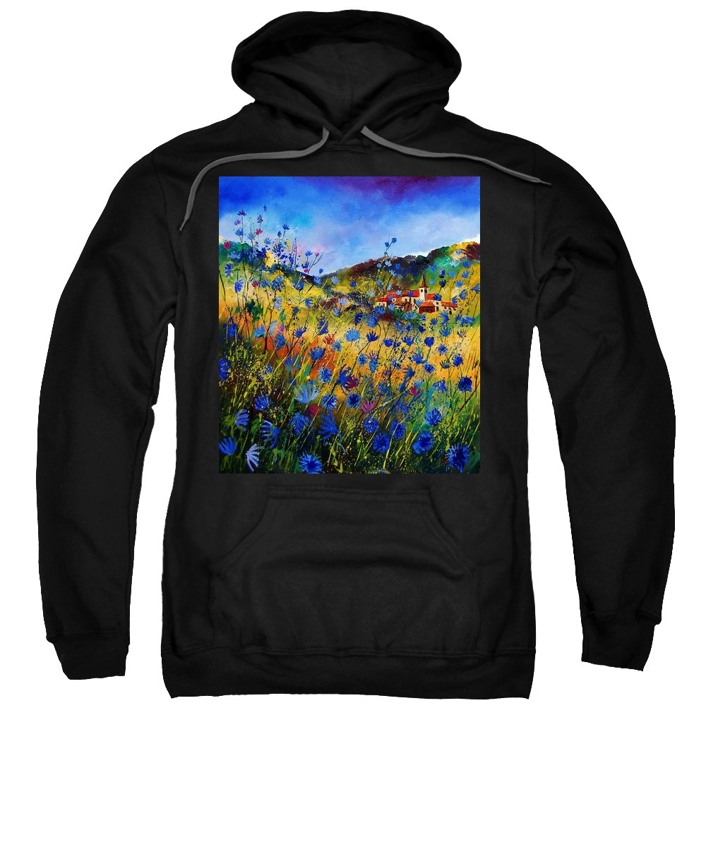 Flowers Sweatshirt featuring the painting Summer Glory by Pol Ledent
