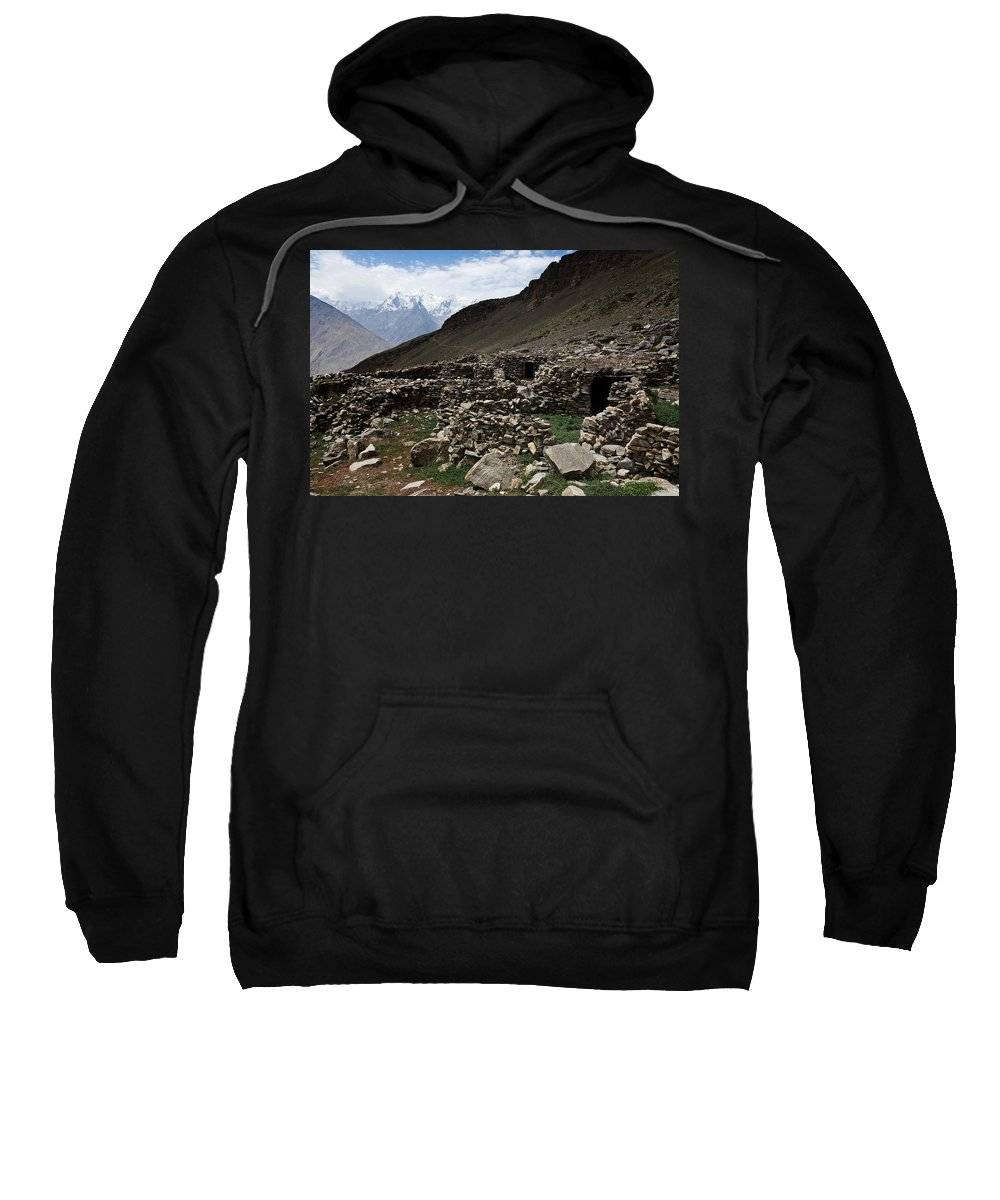 Backpacking Sweatshirt featuring the photograph Summer Hut by Konstantin Dikovsky