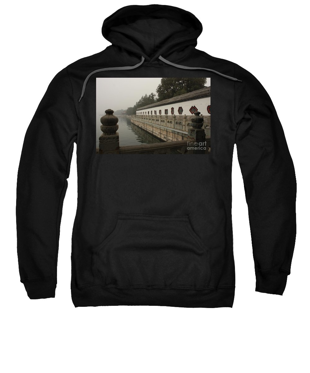 Summer Palace Sweatshirt featuring the photograph Summer Palace Pond With Ornate Balustrades by Carol Groenen