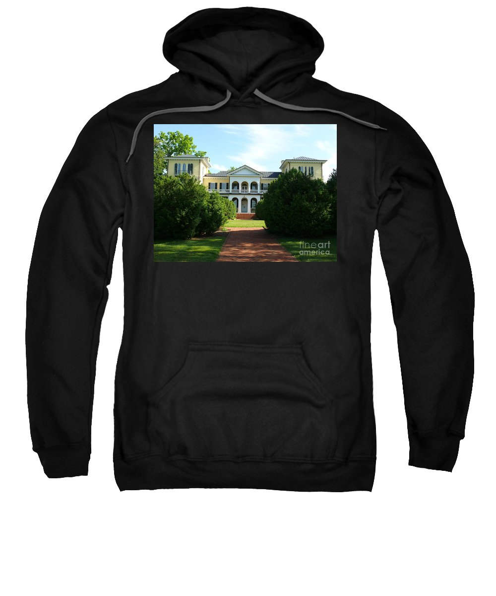 Sweet Briar Sweatshirt featuring the photograph Summer Time At Sweet Briar House by Katherine W Morse