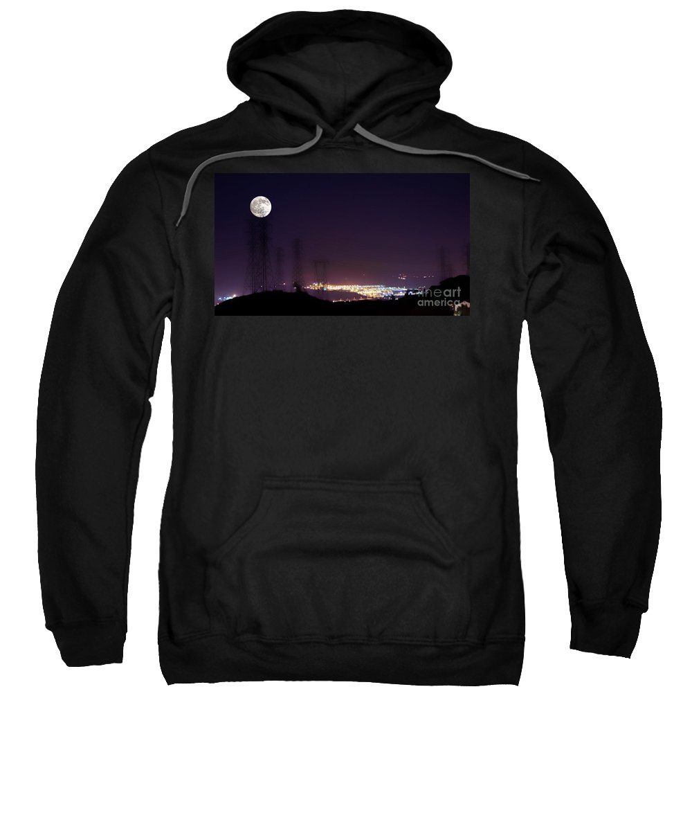 Clay Sweatshirt featuring the photograph Summer's Night In The Valley by Clayton Bruster