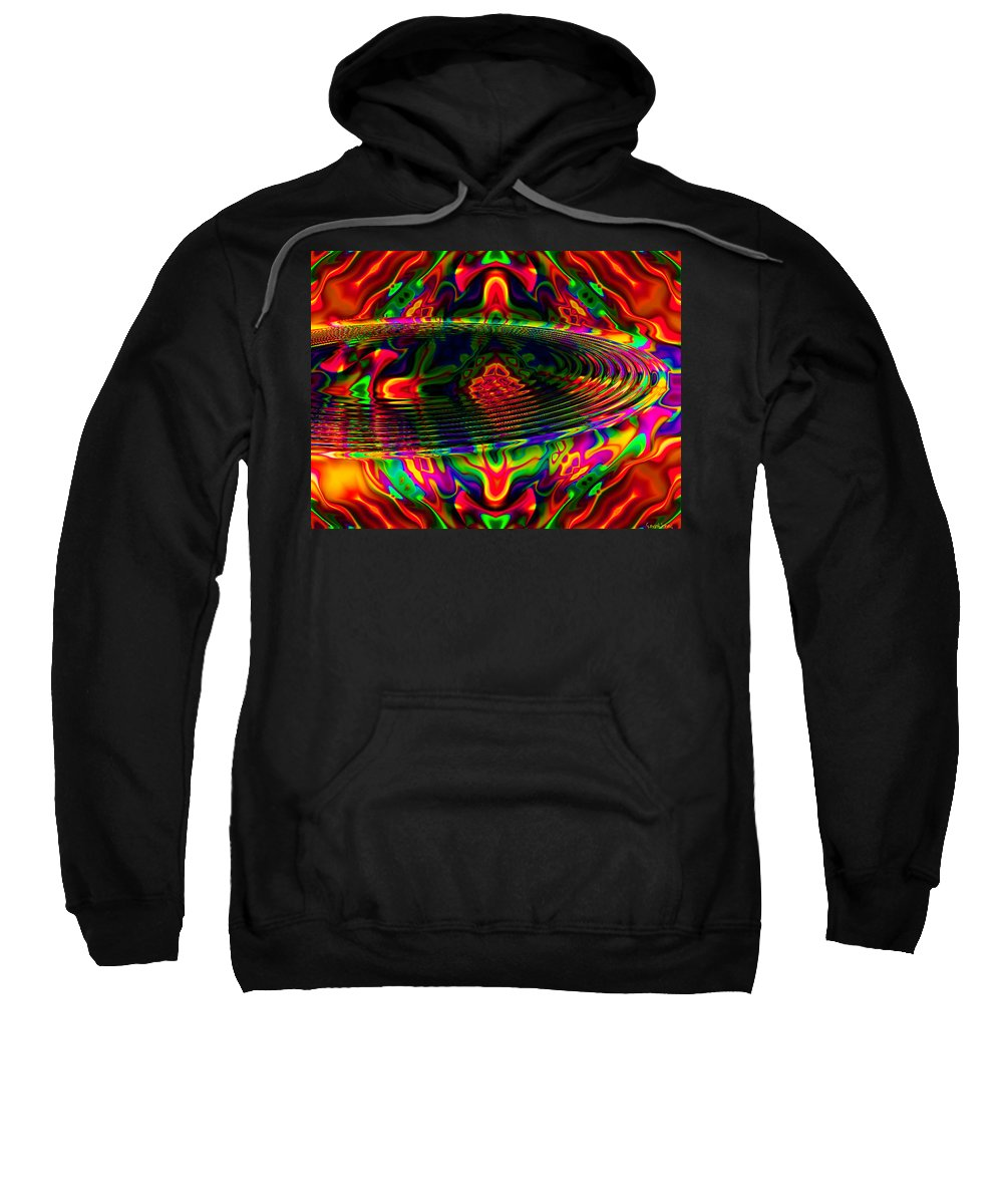 Riple Sweatshirt featuring the digital art Sun Catcher by Robert Orinski