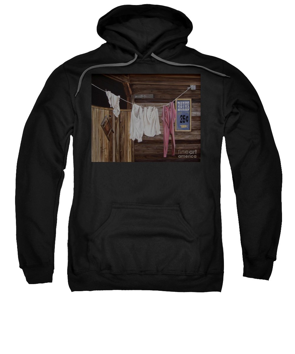 Art Sweatshirt featuring the painting Sun Dried by Mary Rogers