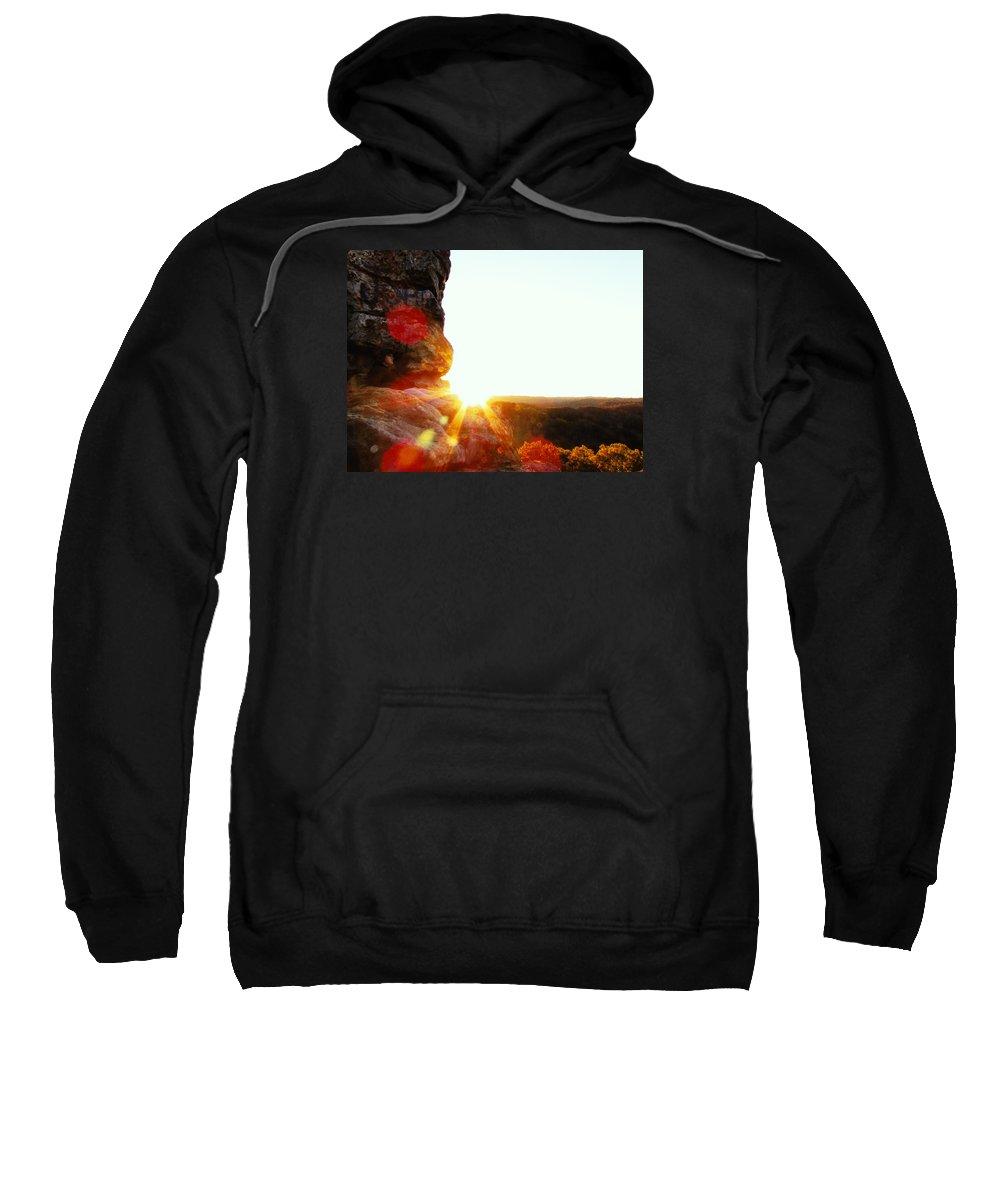 Evening Sweatshirt featuring the photograph Sun by Jacob Carden